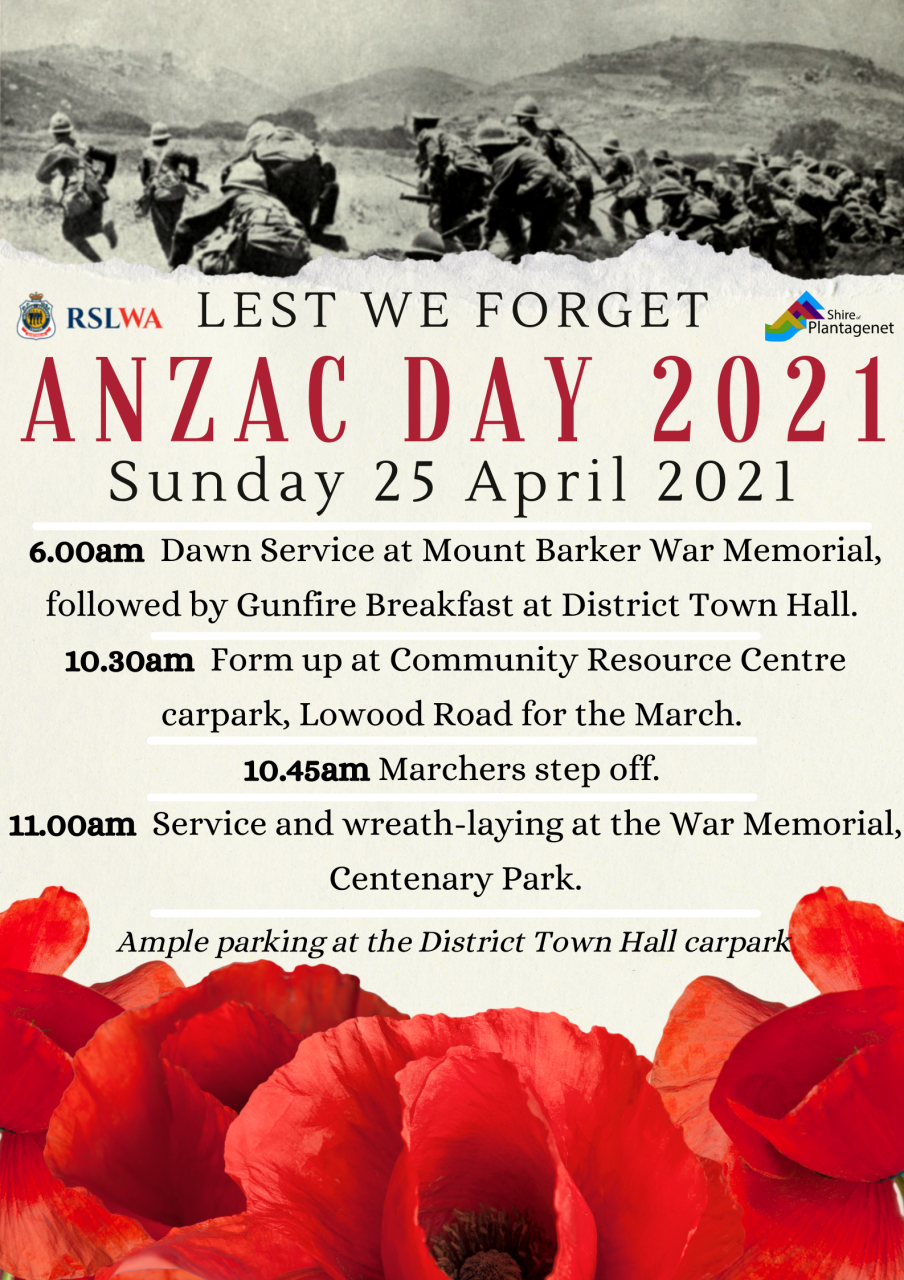 ANZAC Day - 25 April 2021